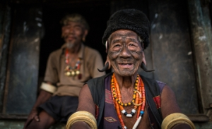 Tattooed-Konyak-tribesman-from-Mon-District-Nagaland-Tribes-and-Wildlife-Tour-of-Northeast-India