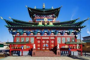 Temple of the Pure Land in the Ivolginsky Datsan, Buryatia, Russ